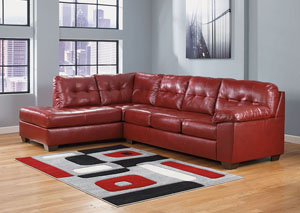 Alliston DuraBlend Salsa Left Arm Facing Chaise End Sectional
