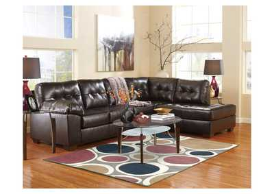 Alliston DuraBlend Chocolate Right Arm Facing Chaise End Sectional,Signature Design by Ashley