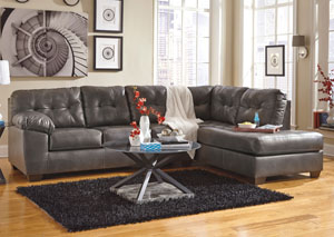 Alliston DuraBlend Gray Right Arm Facing Chaise End Sectional