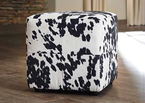 Bremer Black & White Accent Ottoman (Set of 2)