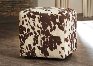 Bremer Chocolate & White Accent Ottoman (Set of 2)