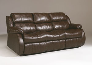 DuraBlend Cafe Reclining Sofa w/ Drop Down Table
