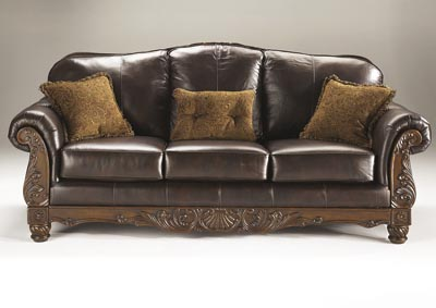 Jarons north shore dark brown corner chaise for Ashley north shore chaise