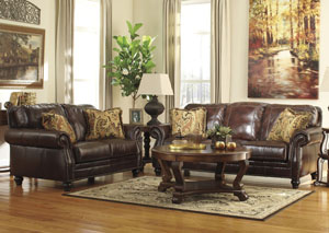 Graydon Park Dark Saddle Sofa  & Loveseat