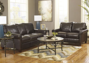Nastas DuraBlend Bark Sofa & Loveseat,Benchcraft