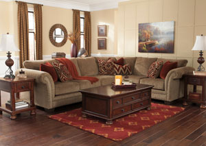 Grecian Amber Extended Sectional