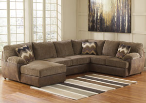 Cladio Hickory Left Arm Facing Chaise End Sectional,Benchcraft