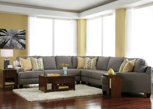 Chamberly Alloy Cuddler End Extended Sectional