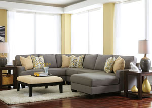 Chamberly Alloy Right Arm Facing Chaise End Sectional,ABF Signature Design by Ashley