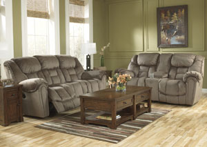 Brasher Mocha Power Reclining Sofa & Loveseat