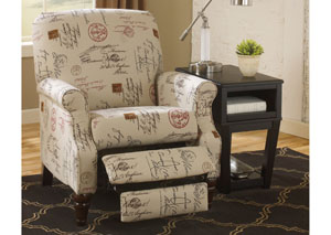 Placido Script High Leg Recliner,Signature Design by Ashley