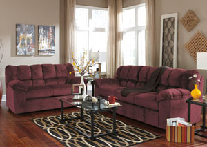 Julson Burgundy Sofa & Loveseat,Signature Design by Ashley