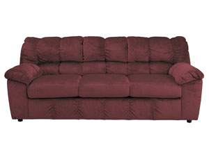 Julson Burgundy Sofa,Signature Design by Ashley