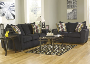 Brogain Ebony Sofa & Loveseat