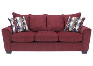 Brogain Burgundy Sofa