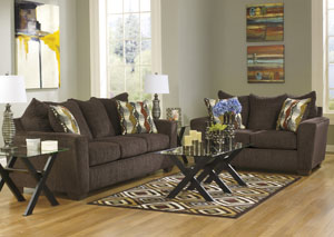 Brogain Walnut Sofa & Loveseat
