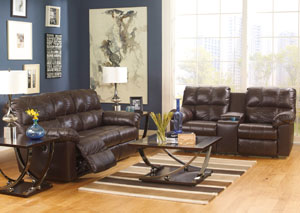 Kennard Chocolate Reclining Power Sofa & Loveseat