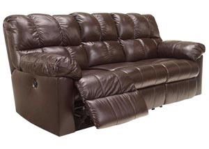 Kennard Chocolate Reclining Sofa,Signature Design by Ashley