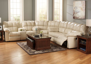 Kennard Cream Reclining Sectional,Signature Design by Ashley