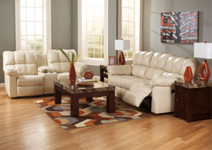 Kennard Cream Reclining Sofa & Loveseat