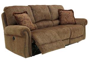 Macnair Umber Reclining Power Sofa