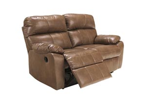 Windmaster DuraBlend Taupe Reclining Power Loveseat