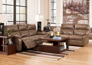 Windmaster DuraBlend Taupe Reclining Sofa & Loveseat