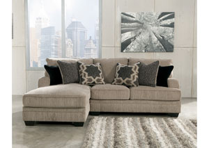 Katisha Platinum Left Facing Chaise Sectional,Signature Design by Ashley