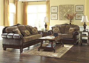 Beamerton Heights Chestnut Sofa & Loveseat