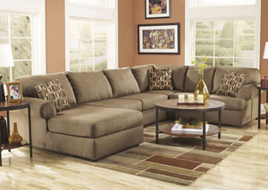 Cowan Mocha Left Facing Chaise End Sectional,Signature Design by Ashley