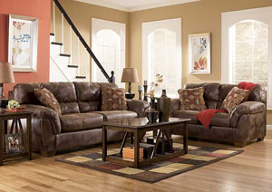 Frontier Canyon Sofa & Loveseat,Ashley