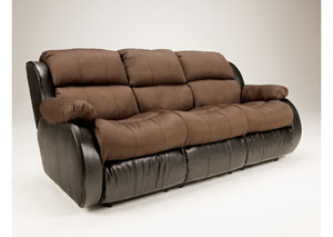 Presley Espresso Reclining Sofa w/ Drop Down Table