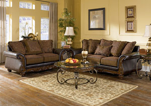 Wilmington Walnut Sofa & Loveseat