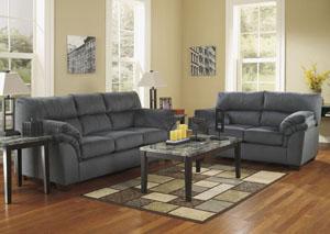 Vergana Charcoal Sofa & Loveseat