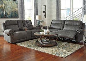Austere Gray 2 Seat Reclining Sofa & Loveseat