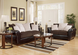Voltage Chocolate Sofa & Loveseat