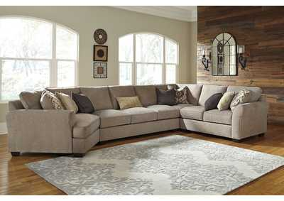 Pantomine Driftwood Sectional w/Left Facing Cuddler ,Benchcraft