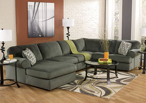 Jessa Place Pewter Left Facing Chaise Sectional