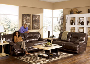 Exhilaration Chocolate 2 Seat Reclining Power Sofa & Loveseat,Signature Design by Ashley