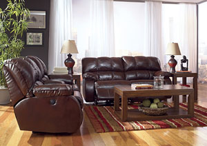 Knockout DuraBlend Redwood Double Reclining Sofa & Loveseat