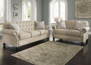 Kieran Natural Sofa and Loveseat,Signature Design by Ashley