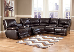 Capote DuraBlend Chocolate Left Facing Reclining Power Sectional