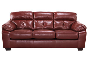 Bastrop DuraBlend Crimson Sofa