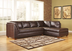 DuraBlend Mahogany Right Facing Chaise Sectional,Signature Design by Ashley