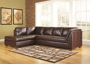 DuraBlend Mahogany Left Facing Chaise Sectional