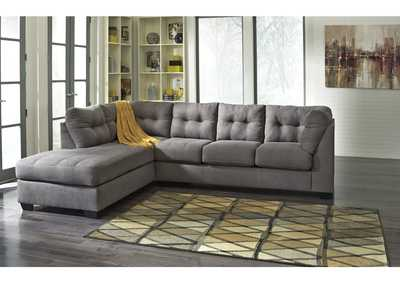 Maier Charcoal Left Arm Facing Chaise End Sectional,Benchcraft