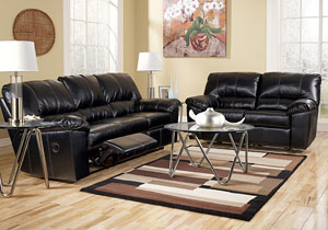 DuraBlend Black Power Reclining Sofa & Loveseat