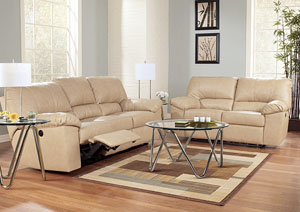 Durablend Natural Reclining Sofa & Loveseat