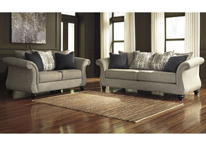Jonette Stone Sofa and Loveseat,Benchcraft