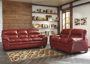 Tassler DuraBlend Crimson Loveseat and Sofa,Signature Design by Ashley